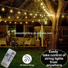 Outdoor Led Patio String Lights by Outdoor Waterproof Patio String Light Wireless Remote Control