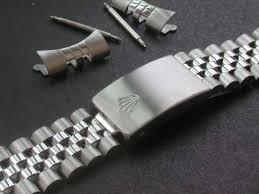 steel bracelet strap images Signed 19mm stainless steel jubilee style quality watch band jpg