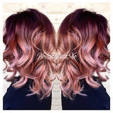 red violet blush sombre xostylistxo ash stylz hair pinterest