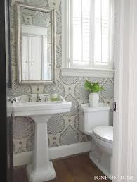wallpaper ideas for bathrooms the 25 best small bathroom wallpaper ideas on half