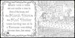 alice wonderland coloring book piccadilly