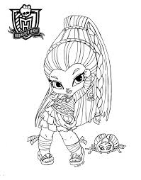baby monster high coloring pages free colouring pages 3989