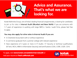 Internal Audit Job Description For Resume by Job Internal Audit Thane Mumbai City New Delhi Banking