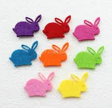 100pcs lot rabbit felt patch animal figure fabric felt