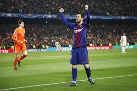 Lionel Messi Leg Lionel Messi Hits 100th Chions League Goal As Barcelona Last