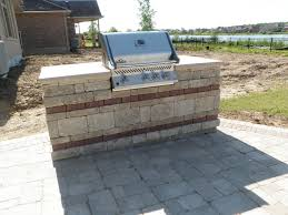 paving stone patio with built in bbq and fireplace traditional