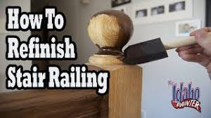 How To Stain Mohagany Doors Youtube by How To Refinish Wood Hand Railing Hacks Staining Stair Spindles