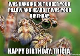 Funny Spider Meme - birthday spider meme mne vse pohuj