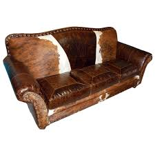 Leather Sofa Sleeper Western Leather Furniture Cowboy Furnishings From Lones