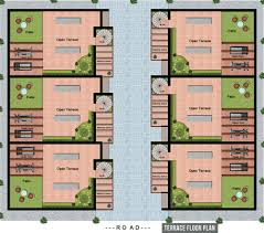floor plan for gym 1330 sq ft 3 bhk 3t villa for sale in stepsstone promoters mayura