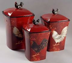 rooster kitchen canisters 3 piece rooster canister set chickens and roosters pinterest
