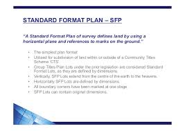 how to read plan formats and definitions of lots and common property