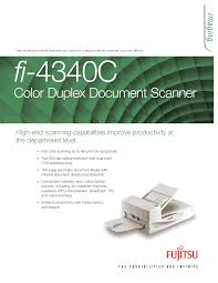 scanner fi4340c and flatbed printer docsity