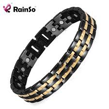magnetic bracelet stainless images Rainso health magnetic bracelet mens hand chain link bracelet jpg