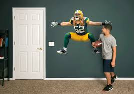 Green Bay Packers Bedroom Ideas Life Size Clay Matthews Sack Celebration Fathead Wall Decal Shop