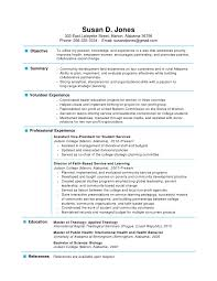 Resume For Non Profit Job by One Page Resume