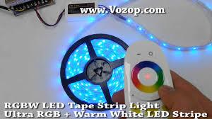 rgbw led strip light ultra rgb warm white led tape stripe youtube