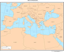 Blank Map Of Mediterranean by Mediterranean Sea Map Images Reverse Search