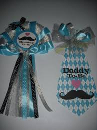 corsage de baby shower baby shower mustache and s by theflowerexperts