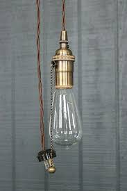 Bare Bulb Pendant Light Fixture Pendant Light With Pull Chain Plus Industrial Bare Bulb Pendant