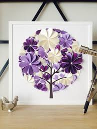 purple guest book tree wedding guest book unique purple 3d paper modern leaves