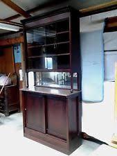 Vintage Pharmacy Cabinet Dark Wood Tone Antique Bar Cabinets Ebay