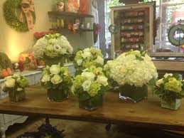 white flower centerpieces helen flowers classic white and green floral arrangements
