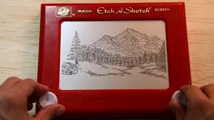 bob ross on etch a sketch youtube