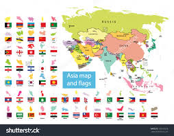 Map Of Asia Countries by Asia Qygjxz
