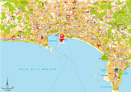 Nice France Map by Cannes Map