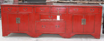 chinese antique red long sideboard buy chinese antique red long