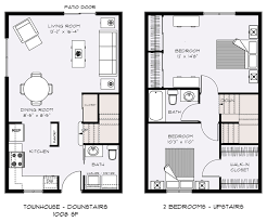 Floor Plans With Furniture Townhouse Floor Plans House Plans Name Two Bedroom Townhouse