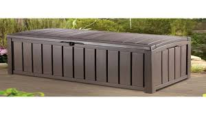 keter novel plastic deck storage container box outdoor patio