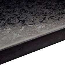38mm lunar night black round edge worktop l 3000mm d 600mm