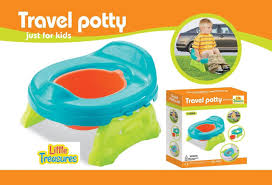 Little treasures travel potty with removable bowl for
