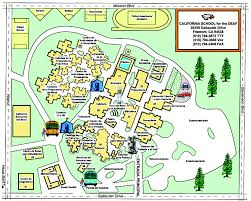 Usa Campus Map by California For The Deaf