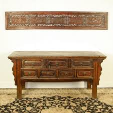 Sofa Tables With Drawers by Antique Chinese 68 Inch Long Console Table 7 Drawers