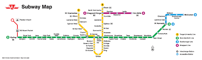 Toronto Subway Map Toronto Subway Map Maps Of The World