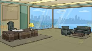 executive office an executive office with a view of the city background cartoon