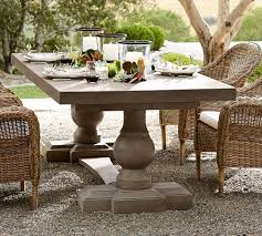 pottery barn concrete table scarlett concrete rectangular dining table pottery barn outdoor