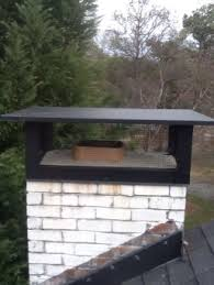 Outdoor Fireplace Chimney Cap - chimney caps and rain pans mad hatter services