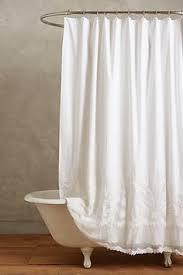 gabriella natural linen shower curtain 25 at home decorating