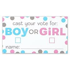 gender reveal party gender reveal party voting cards boy or girl card