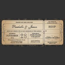 ticket wedding invitations ticket invitations 1300 ticket announcements invites