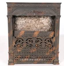 late victorian dawson brothers cast iron fireplace insert ebth