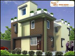 duplex house plans gallery front elevation of duplex house in sq ft collection and pictures