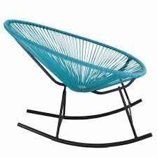 Rocking Chair Outdoor Furniture Acapulco Rocking Chair Blue The Khazana Austin Home Furniture Store