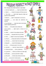 35 free esl present perfect or past simple tense worksheets
