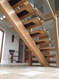 extraordinary staircase design with landing decor combined wooden