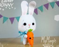 Easter Decorations From Felt by Felt Bunny Ornament Etsy